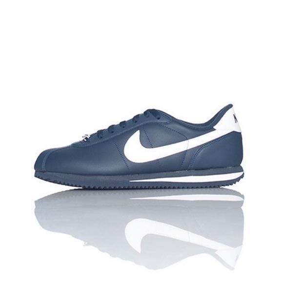 cheaper c07cf 15f08 NIKE ~ Cortez navy white leather sneaker